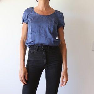 Silk blouse t shirt